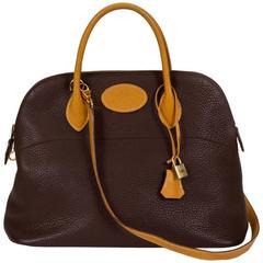Hermès Brown Naturel 35cm Bolide Togo Leather Bag