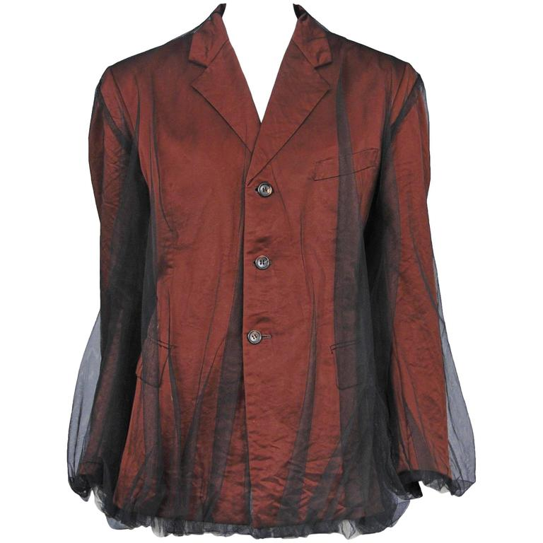 Comme des Garcons Tulle Overlay Blazer