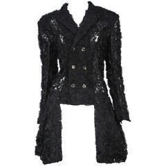 Comme des Garcons Black Applique Jacket 1987