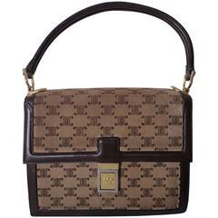 celine green leather handbag edge