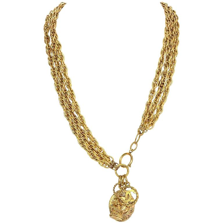 Chanel Gold-Tone Multi-Strand Belt/Necklace 2