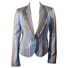 Akris Multicolor Striped Blazer