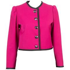 Deep Pink Saint Laurent Jacket