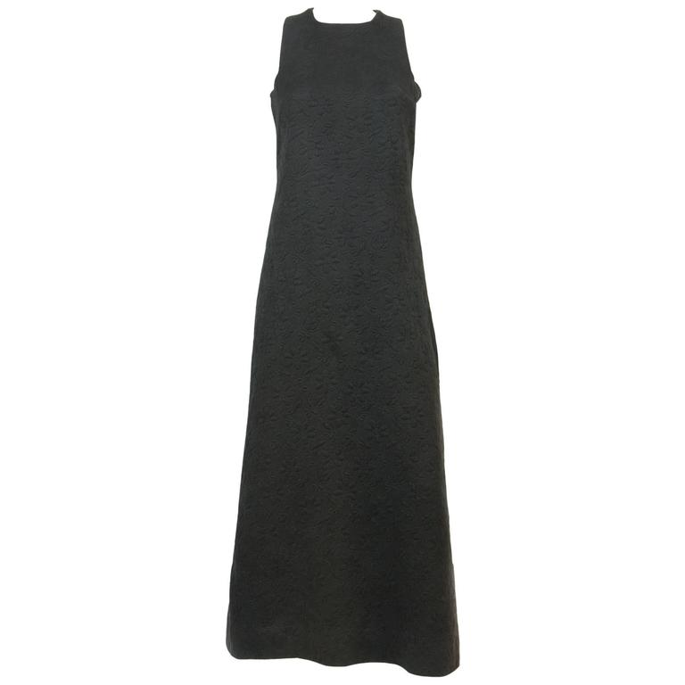 1960s Rare Black Cocktail Dress Miss Dior By Marc Bohan For Sale
