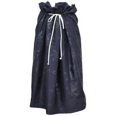 Comme des Garcons Navy Floral Dirndl Skirt 1996