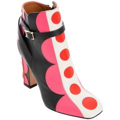 Valentino Carmen Leather Applique' Ankle Boots, Autumn - Winter 2014
