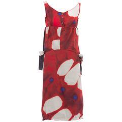 Issey Miyake Tie-Die Cotton Skirt Suit, Spring 2007