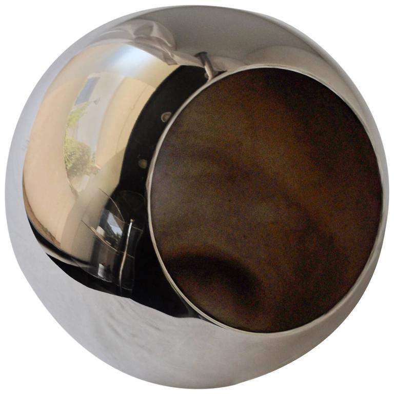 Important Lino Sabattini Silverware Spherical Flower Vase 1