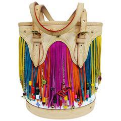 Louis Vuitton Multicolore Fringe Bucket Bag designed by Takashi Murakami 2006
