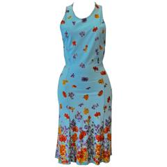 Fresh Istante By Gianni Versace Bodycon Floral Sheath Dress