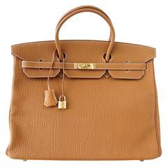 Hermes Birkin Bag 40 Iconic Gold Clemence Gold Hardware