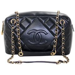 Chanel Black Leather Classic Camera Bag