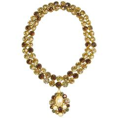 Unsigned JL Blin of Paris Topaz Necklace