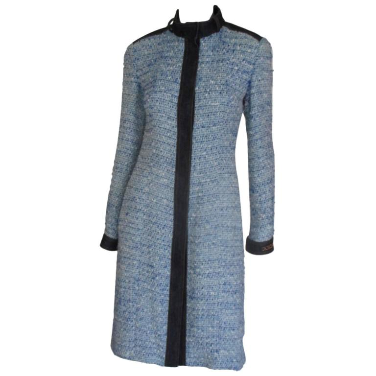 Dolce & Gabbana blue wool/denim coat 1