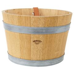 HERMES Groom Stable Bucket Oak Leather Handle