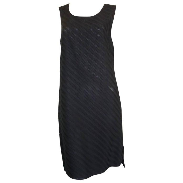 A.K.R.I.S Black Cotton Dress (M-M+) For Sale