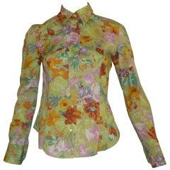 ETRO Cotton Floral Shirt (42 ITL)