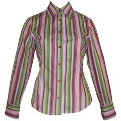 ETRO Cotton Multicolored Striped Shirt (40 ITL)