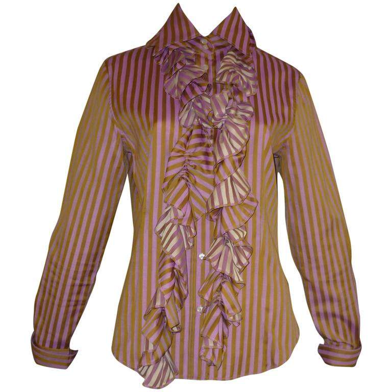 ETRO Cotton Shirt with Detachable Frill (46 ITL)