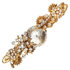 Miriam Haskell Oversized Pearl Brooch