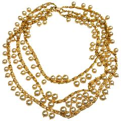 Trifari Multistrand Pearl Necklace