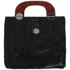 Whiting & Davis Black Mesh Tote