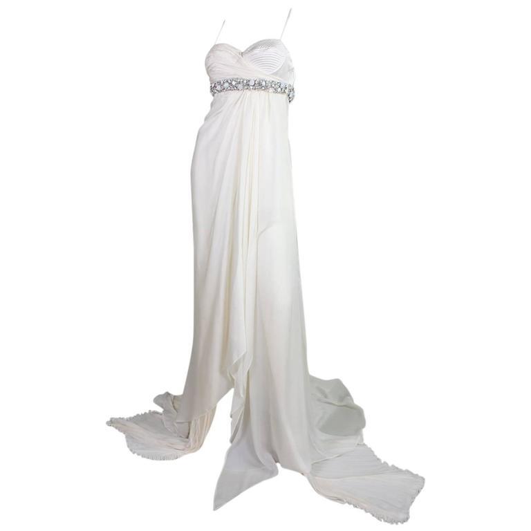 Roberto Cavalli Chiffon Goddess Gown For Sale