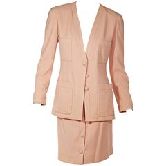 Light Pink Chanel Wool Skirt Suit Set