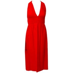 Malcolm Starr Red Halter Dress