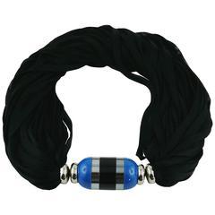 "Yves Saint Laurent YSL Vintage ""Rive Gauche"" Solid Perfume Diffuser Necklace"