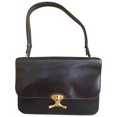 Hermes Unusual Vintage Black Shoulder Bag