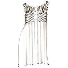 Rare 1960s Chain Link Fringed Vest