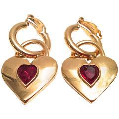 Vintage Chanel Heart Shape Earrings