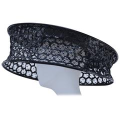 Wearable Art Alexander McQueen Runway  Beekeeper Hat  2013  New   S