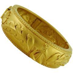 Lanvin Vintage Gold Toned Arpege Bracelet