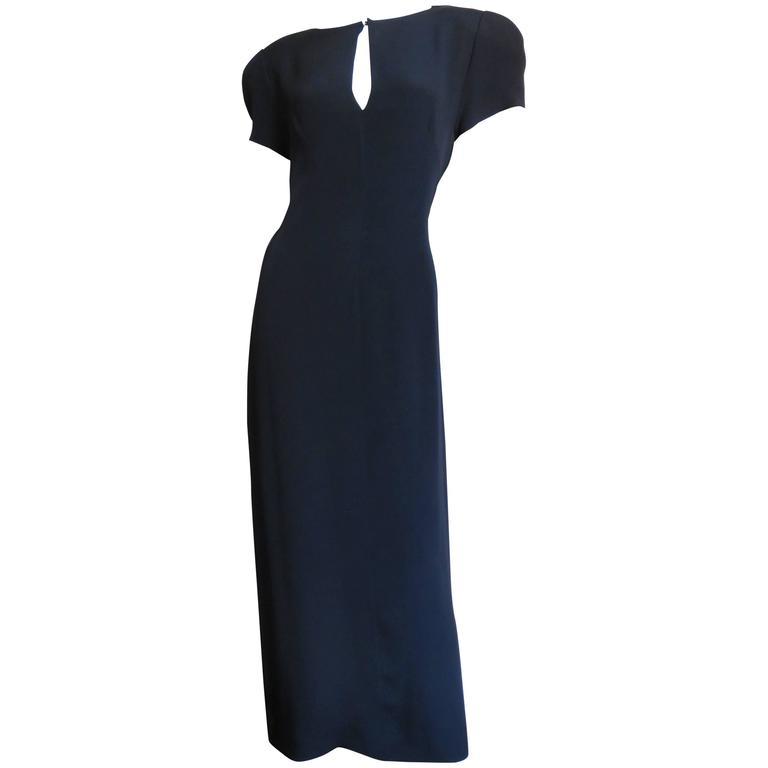 1980s Dramatic Krizia Slash Back Dress