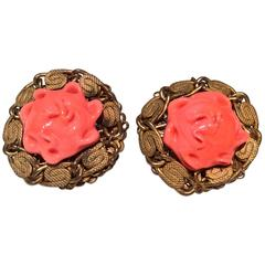 Vintage Miriam Haskell Earrings - 1950's