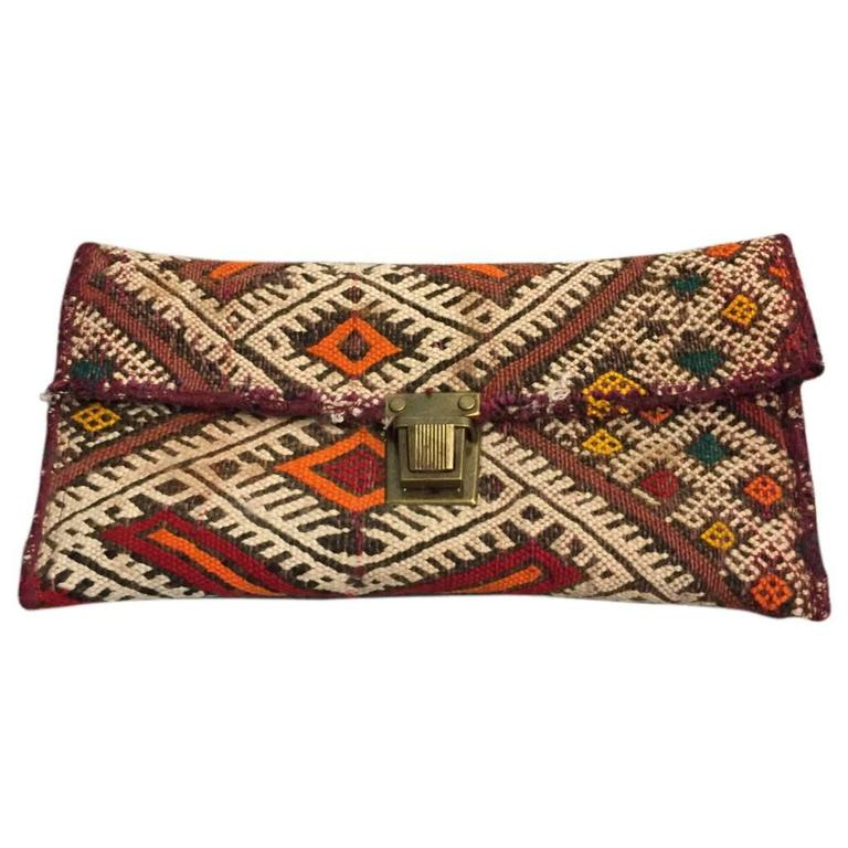 Moroccan Antique Textile Clutch  1