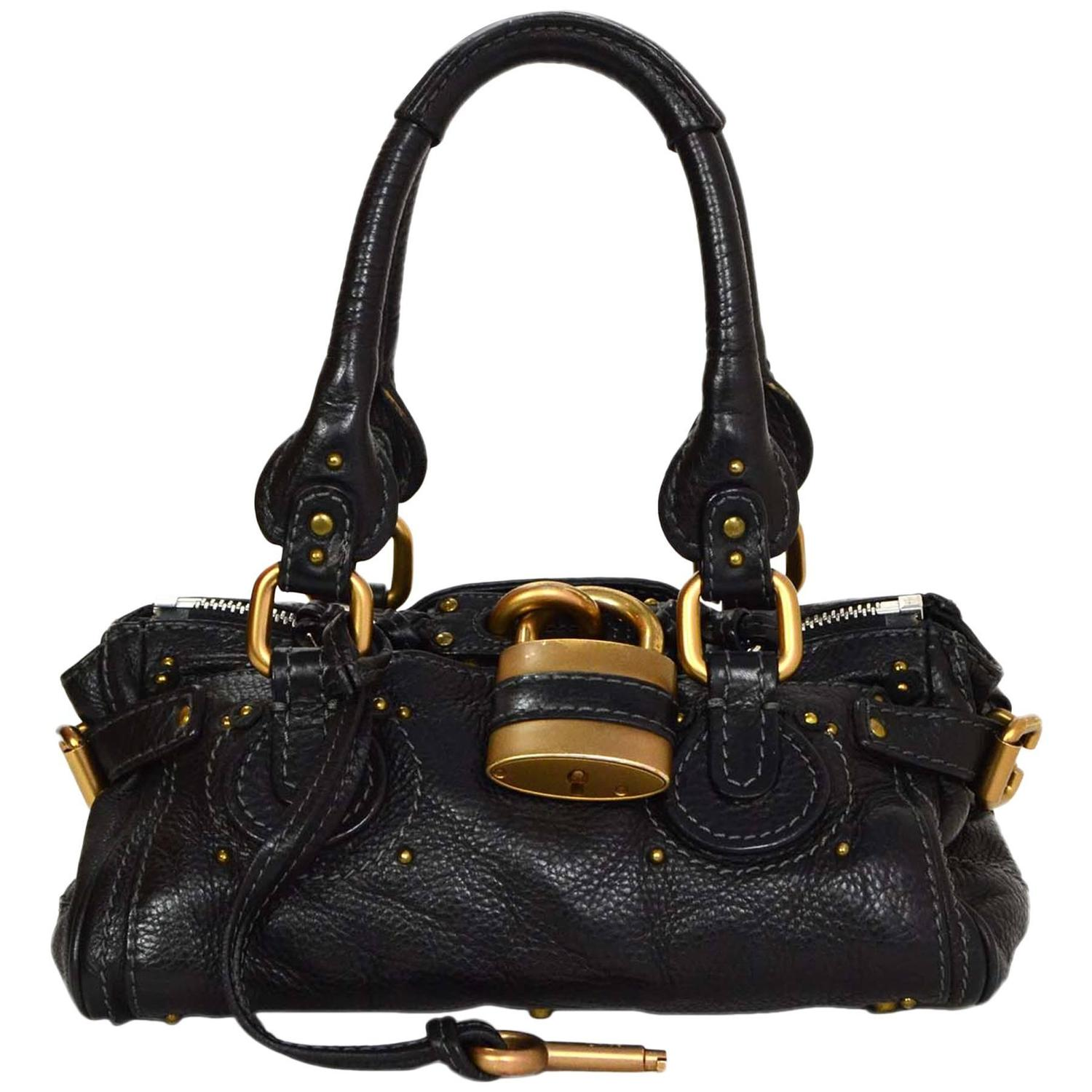 chloe silverado leather handle bag