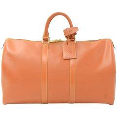 Louis Vuitton Keepall 45 Cipango Gold Epi Leather Duffle Travel Bag