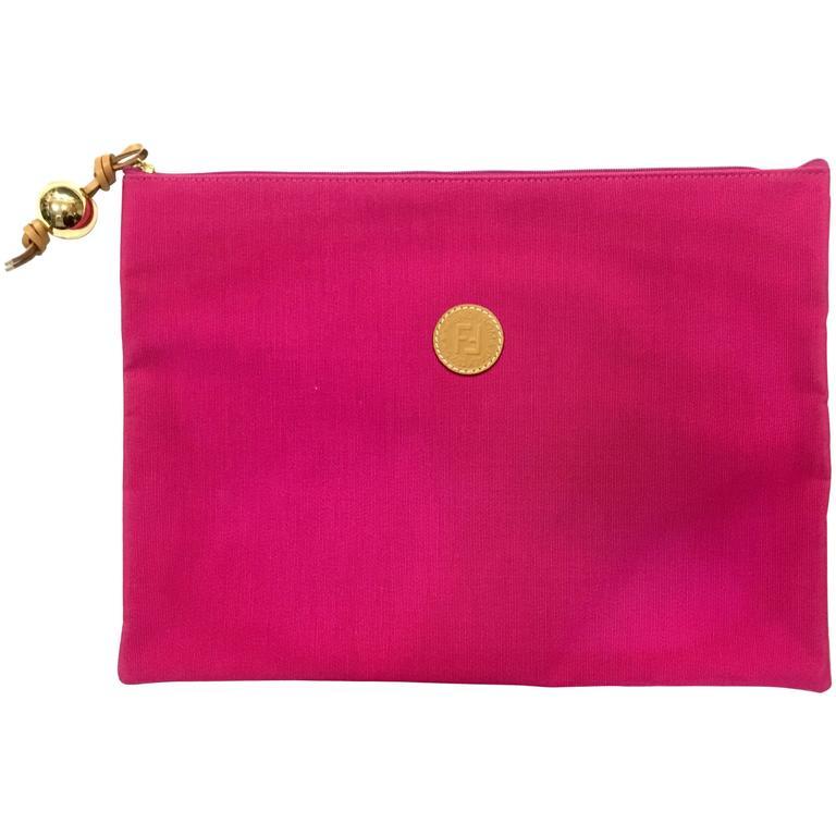 Fabulous Fendi Fushia Envelope Clutch