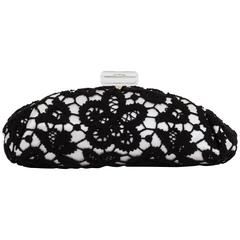 Chanel Limited Edition Large Lace & Lucite Clutch