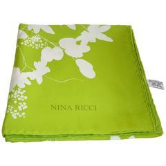 Vintage Nina Ricci Silk Twill Scarf