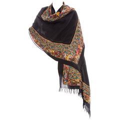 Dries Van Noten Wool Silk Sequin & Beaded Embellished Scarf, Fall 2008