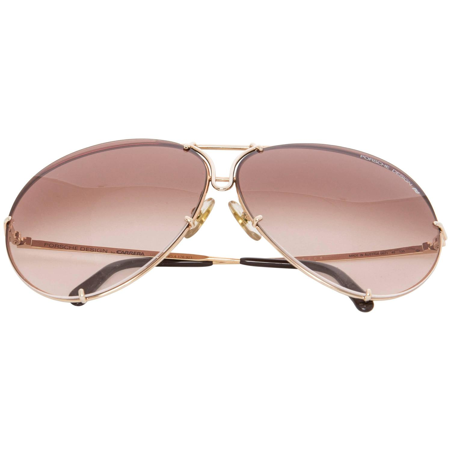 Porsche By Carrera 5621 Aviator Sunglasses With Case And