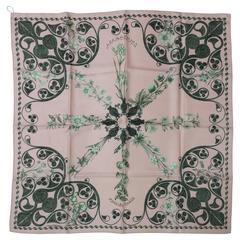 "Hermes Paris silk twill scarf Arabesques Henri d'Origny 35"" x 35"" unworn"