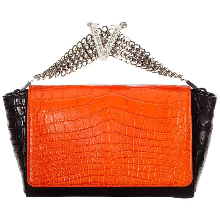 Versace crocodile clutch