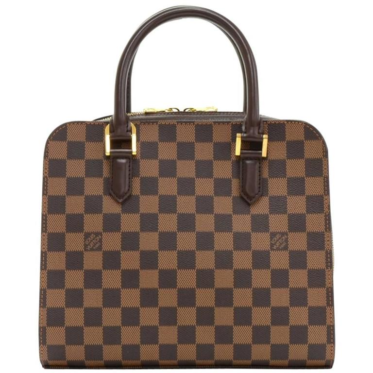 Louis Vuitton Triana Ebene Damier Canvas Handbag For Sale at 1stdibs