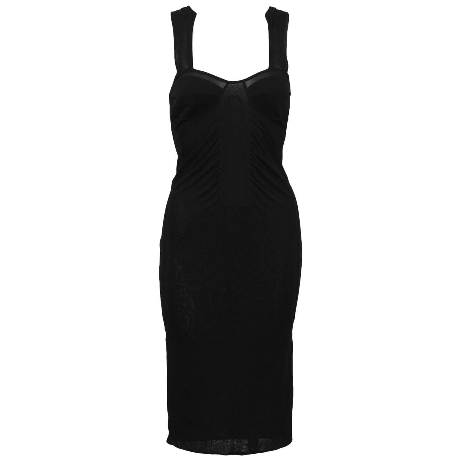 2000's Gucci Black Mesh Dress