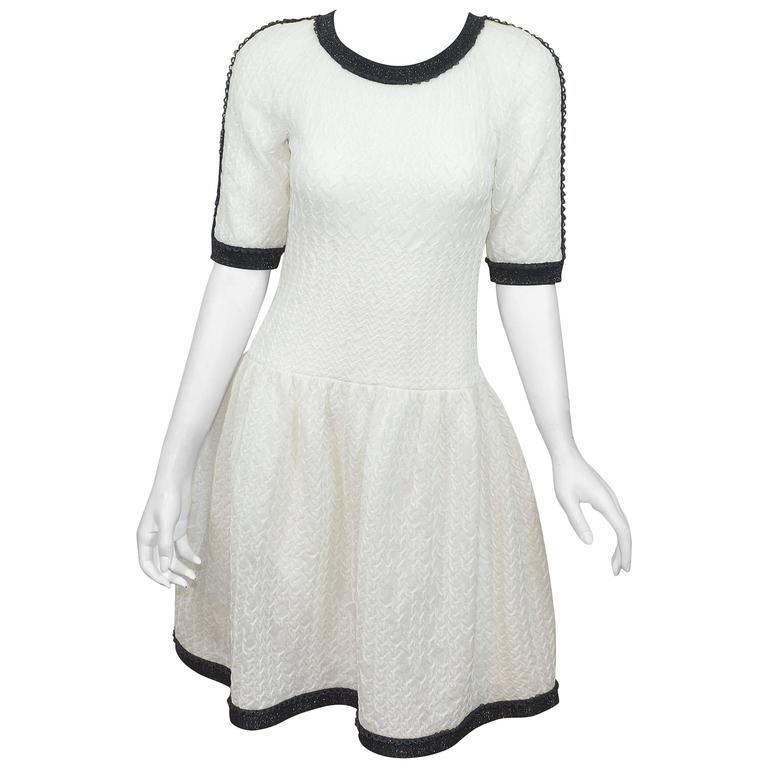 Chanel Quilted Lurex Drop-Waist Dress